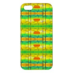 Birds Beach Sun Abstract Pattern Apple Iphone 5 Premium Hardshell Case