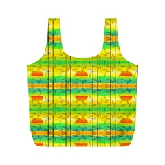 Birds Beach Sun Abstract Pattern Full Print Recycle Bags (m)