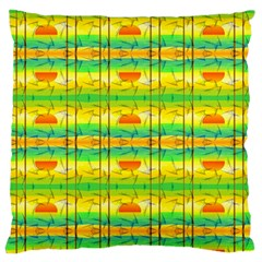 Birds Beach Sun Abstract Pattern Large Flano Cushion Case (one Side)