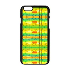 Birds Beach Sun Abstract Pattern Apple Iphone 6/6s Black Enamel Case