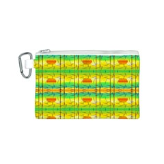 Birds Beach Sun Abstract Pattern Canvas Cosmetic Bag (S)