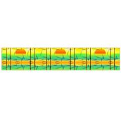 Birds Beach Sun Abstract Pattern Flano Scarf (Large)