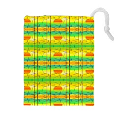 Birds Beach Sun Abstract Pattern Drawstring Pouches (extra Large)