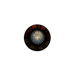 Black And Borwn Stained Glass Dome Roof 1  Mini Magnets