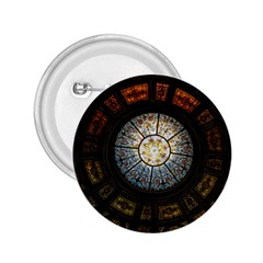 Black And Borwn Stained Glass Dome Roof 2.25  Buttons