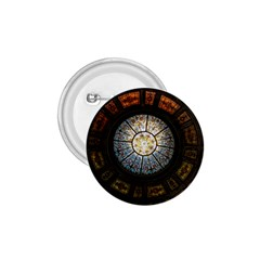 Black And Borwn Stained Glass Dome Roof 1.75  Buttons