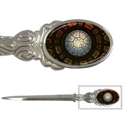 Black And Borwn Stained Glass Dome Roof Letter Openers