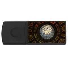 Black And Borwn Stained Glass Dome Roof USB Flash Drive Rectangular (4 GB)