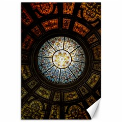 Black And Borwn Stained Glass Dome Roof Canvas 12  x 18