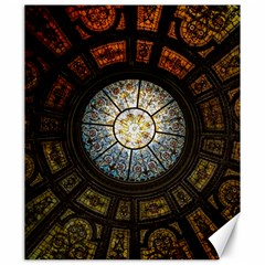 Black And Borwn Stained Glass Dome Roof Canvas 20  x 24