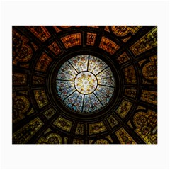 Black And Borwn Stained Glass Dome Roof Small Glasses Cloth (2-Side)