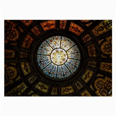 Black And Borwn Stained Glass Dome Roof Large Glasses Cloth