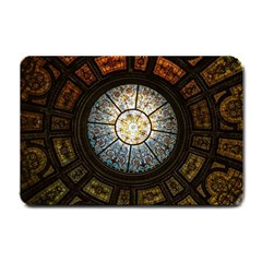 Black And Borwn Stained Glass Dome Roof Small Doormat