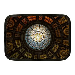 Black And Borwn Stained Glass Dome Roof Netbook Case (Medium)