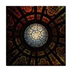 Black And Borwn Stained Glass Dome Roof Face Towel