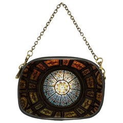 Black And Borwn Stained Glass Dome Roof Chain Purses (One Side)