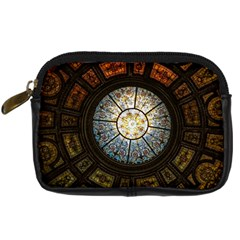 Black And Borwn Stained Glass Dome Roof Digital Camera Cases