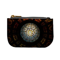 Black And Borwn Stained Glass Dome Roof Mini Coin Purses
