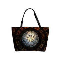 Black And Borwn Stained Glass Dome Roof Shoulder Handbags