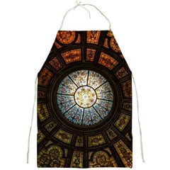 Black And Borwn Stained Glass Dome Roof Full Print Aprons