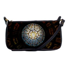 Black And Borwn Stained Glass Dome Roof Shoulder Clutch Bags