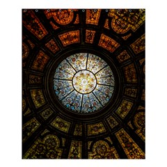 Black And Borwn Stained Glass Dome Roof Shower Curtain 60  x 72  (Medium)