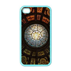 Black And Borwn Stained Glass Dome Roof Apple iPhone 4 Case (Color)