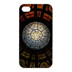 Black And Borwn Stained Glass Dome Roof Apple Iphone 4/4s Hardshell Case