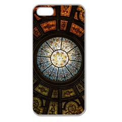 Black And Borwn Stained Glass Dome Roof Apple Seamless iPhone 5 Case (Clear)
