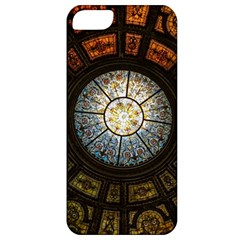 Black And Borwn Stained Glass Dome Roof Apple iPhone 5 Classic Hardshell Case