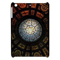 Black And Borwn Stained Glass Dome Roof Apple iPad Mini Hardshell Case