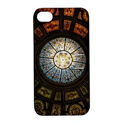 Black And Borwn Stained Glass Dome Roof Apple iPhone 4/4S Hardshell Case with Stand