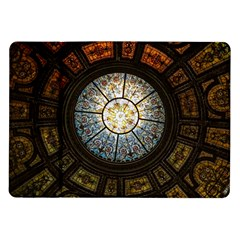 Black And Borwn Stained Glass Dome Roof Samsung Galaxy Tab 10.1  P7500 Flip Case