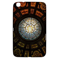 Black And Borwn Stained Glass Dome Roof Samsung Galaxy Tab 3 (8 ) T3100 Hardshell Case