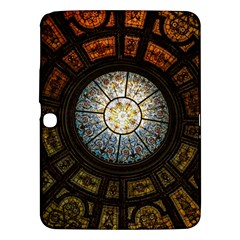 Black And Borwn Stained Glass Dome Roof Samsung Galaxy Tab 3 (10.1 ) P5200 Hardshell Case