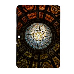Black And Borwn Stained Glass Dome Roof Samsung Galaxy Tab 2 (10.1 ) P5100 Hardshell Case