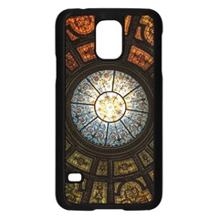 Black And Borwn Stained Glass Dome Roof Samsung Galaxy S5 Case (Black)