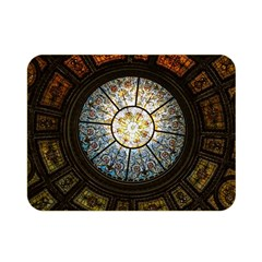 Black And Borwn Stained Glass Dome Roof Double Sided Flano Blanket (mini)