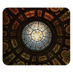 Black And Borwn Stained Glass Dome Roof Double Sided Flano Blanket (Small)