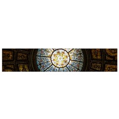 Black And Borwn Stained Glass Dome Roof Flano Scarf (Small)