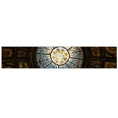 Black And Borwn Stained Glass Dome Roof Flano Scarf (Large)