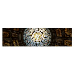 Black And Borwn Stained Glass Dome Roof Satin Scarf (Oblong)