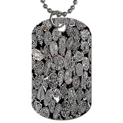 Black And White Art Pattern Historical Dog Tag (One Side)