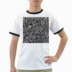 Black And White Art Pattern Historical Ringer T Shirts