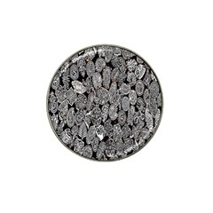 Black And White Art Pattern Historical Hat Clip Ball Marker (4 pack)