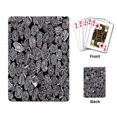 Black And White Art Pattern Historical Playing Card