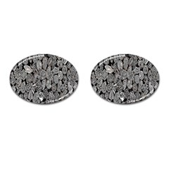 Black And White Art Pattern Historical Cufflinks (Oval)