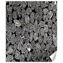 Black And White Art Pattern Historical Canvas 8  x 10