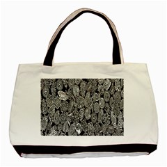 Black And White Art Pattern Historical Basic Tote Bag (two Sides)