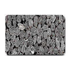 Black And White Art Pattern Historical Small Doormat